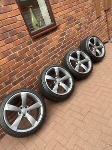 "Genuine Audi TT RS Rotors Alloy Wheels 19""x9"" Et52 With Tyre's"