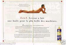 Publicité advertising 1990 (2 pages) Huile Lesieur Isio 4