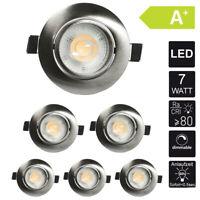 6X Decken-Einbauspot LED Plano Regulable 7W Recessed Luminaire Foco Empotrado