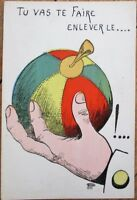 Yruam/Artist-Signed 1903 French Postcard: Hand Holding Ball