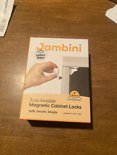 Jambini X2 Two! Truly Invisible Magnetic Cabinet Locks Two New Boxes