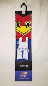 New STANCE KANSAS JAYHAWKS BIG JAY MASCOT SOCKS M(6-8.5) NCAA Basketball
