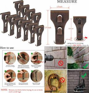 "SXUEG Brick Hook Clips for Bronze(10pcs) Fits Bricks 2-1/4"" to 2-3/8"" High"