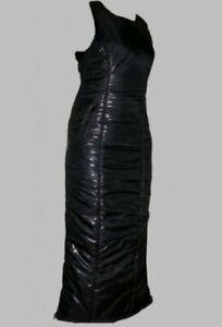 Glanznylon Kleid shiny nylon  - SCHWARZ 25mm