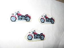 3 STERN HARLEY DAVIDSON PINBALL MACHINE PROMO MOTORCYCLE KEYCHAINS -31,-32&-30