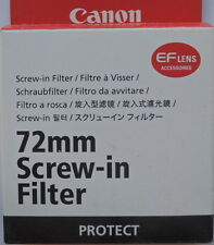 Canon 72mm protect Filter Genuine Canon Made in Japan