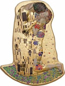 Cook Islands 2019 10$ The Kiss 3D by Klimt