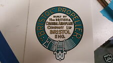 Bristol Propeller Decal Set of 2 for Vintage WW1 Aircraft British Colonial Aerop