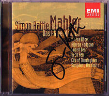 Simon RATTLE Signed MAHLER Das klagende Lied EMI CD 2002 Helena Döse Robert Tear