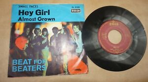 """sMALL fACES """" Hey Girl / Almost Grown """" Single 7"""" German Decca DL 25243 v. 1966"""