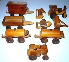 Vintage German Erzgebirge wood farm tractor Lanz Bulldog Steam Roller trailer
