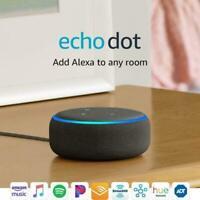 NEW Amazon Echo Dot 3rd Generation Smart speaker with Alexa Charcoal