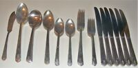 Oneida Community Linda Silverplate Par Plate 48 Piece Flatware Set Service For 6