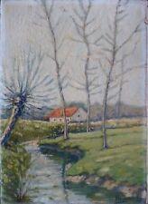 Pierre HENSELER (1903-1985) HsP Zuen la rivière 1923 / Ecole Belge / Fauvisme