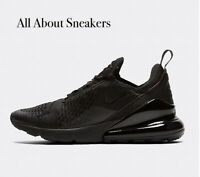 """Nike Air Max 270 """"Black-Black"""" Men's Trainers Limited Stock All Sizes"""