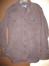 Wrangler Purple Rodeo Western Shirt Black Pearl Snap Size 15-1/2 x 34