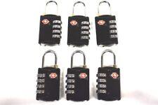 6 Black SKB 4 dial resettable combination TSA Case Luggage Travel Lock