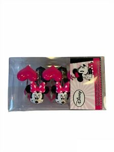 Disney Minnie Mouse Shower Curtain Hooks Set of 6 pink hearts 6 Minnie Heads