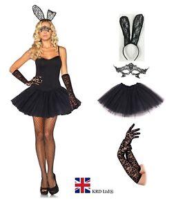 SEXY BUNNY TUTU COSTUME Adult Ladies  Rabbit Fancy Dress Cosplay Easter Lot UK