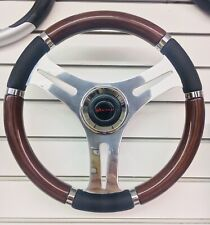 VICTOR DINO Beautiful Mahogany 14 INCH MARINE BOAT STEERING WHEEL