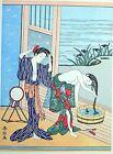 HARUNOBU - SHUNGA ukiyo-e ESTAMPE JAPONAISE AUTHENTIQUE original japan woodblock