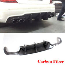 Rear Bumper Lip Diffuser Fit For Benz W204 C300 C63 AMG 12-15 Carbon Fiber