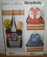 Rag Quilted Handbags Totes Fashion Accessories Sewing Pattern/Simplicity 8357/UN