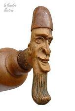 demi bouteille de genièvre au bouchon sculpté - art populaire - estaminet