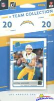 Los Angeles Chargers 2020 Donruss NFL Limited Team Set- JUSTIN HERBERT RC+