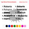 NOME ADESIVO PERSONALIZZATO stickers auto moto tuning 2pz