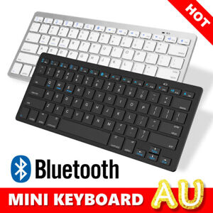 Slim Wireless Bluetooth Keyboard For Apple HP Android Windows Tablet Laptop Mac