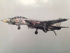 Counted Cross Stitch Pattern Chart SKY WARRIOR SERIES F-14 TOMCAT Fighter Plane