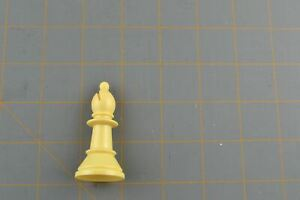 Whitman Chess Bishop Piece White Vintage Plastic Hollow Replacement Part