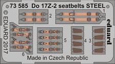 Eduard 1/72 Dornier Do-17Z-2 cinturones de seguridad acero # 73585