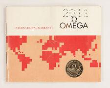 Original 1970's Vintage Omega International Warranty Booklet out of Estate!