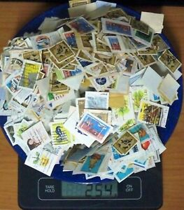 250g Australian Cancelled Stamps on Paper, 10c to 27c, Bulk Lot #4