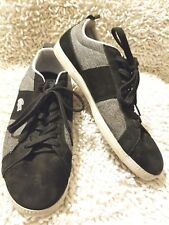 Lacoste Observe Mens Black Suede Leather Mesh Lace Up Sneakers Size 13 Shoes