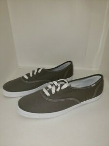 Keds Champion Oxford Canvas Sneakers Lace Up Low Top Shoe Gray Women's 9.5