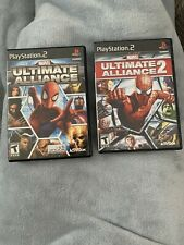 Playstation 2 PS2 Games Lot Marvel Ultimate Alliance 1 & 2 CIB Complete In Box