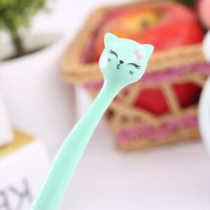 Gel Pen For School 0.5mm Plastic Ink Creative Cartoon Cat Office Gift Kids Cute