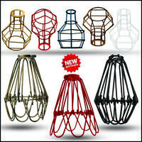 Vintage metal light cage wire frame nest shape hang shade loft ceiling pendant