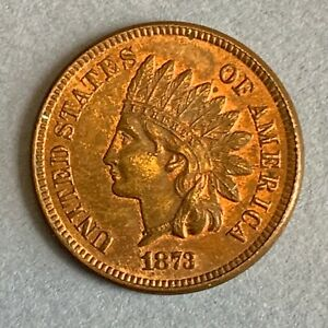 1873 Indian Head Cent Penny - excellent condition
