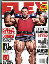 Flex Magazine June 2015 Roelly Blasts Quads! EX 123015jhe