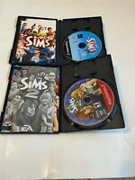 Sims 1 & 2 Lot Bundle Sony PlayStation 2 COMPLETE FAST SHIPPING PS2 SIMULATION