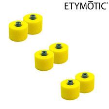 ETYMOTIC 6 Pack ER38-14C Large Yellow Foam Eartips for ER4 HF MC HD HD5 etyBLU
