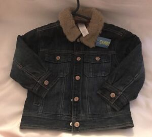 Gymboree Night Forest Denim Boy Jacket Snap Up Lining Coat 4