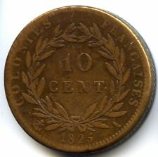 Guyane & Sénégal Charles X 10 Centimes 1825 A Paris Lecompte 304