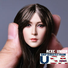 1/6 Asian Beauty Female Head Sculpt A For Hot Toys Phicen Figure U.S.A. SELLER