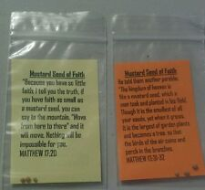150 Mustard Seed of Faith Gift Paks  Scriptures Jesus Inspiration Encouragement