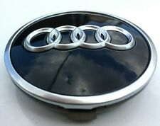 AUDI A4, A6, A7, Q7 ALLOY WHEEL HUB COVER BLACK GLOSS CAP TRIM 60mm 4M0601170B